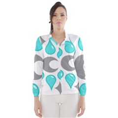 Moon Water Star Grey Blue Wind Breaker (Women)