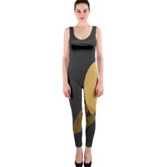 Saturn Ring Planet Space Orange OnePiece Catsuit