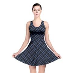 WOV2 BK-MRBL BL-STONE Reversible Skater Dress