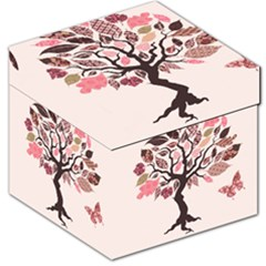 Tree Butterfly Insect Leaf Pink Storage Stool 12