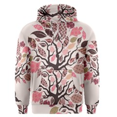 Tree Butterfly Insect Leaf Pink Men s Pullover Hoodie