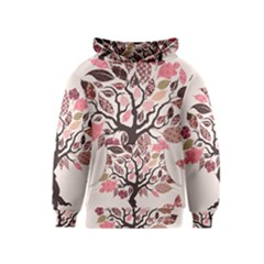Tree Butterfly Insect Leaf Pink Kids  Pullover Hoodie