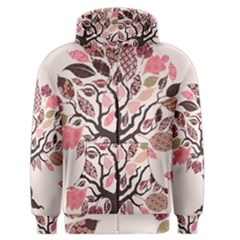 Tree Butterfly Insect Leaf Pink Men s Zipper Hoodie