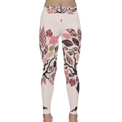 Tree Butterfly Insect Leaf Pink Classic Yoga Leggings