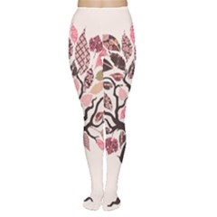 Tree Butterfly Insect Leaf Pink Women s Tights