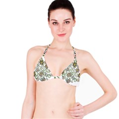 Frame Flower Floral Sun Purple Yellow Green Bikini Top