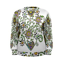 Frame Flower Floral Sun Purple Yellow Green Women s Sweatshirt