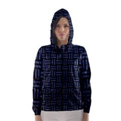 WOV1 BK-MRBL BL-STONE Hooded Wind Breaker (Women)