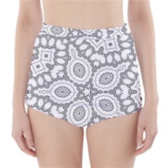 Scope Random Black White High-Waisted Bikini Bottoms