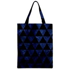TRI3 BK-MRBL BL-STONE Zipper Classic Tote Bag