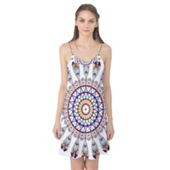 Circle Star Rainbow Color Blue Gold Prismatic Mandala Line Art Camis Nightgown