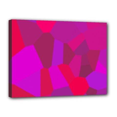 Voronoi Pink Purple Canvas 16  x 12