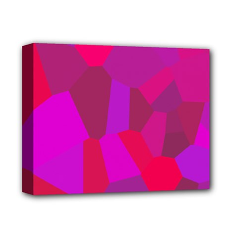 Voronoi Pink Purple Deluxe Canvas 14  x 11