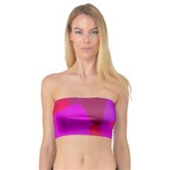 Voronoi Pink Purple Bandeau Top