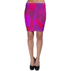 Voronoi Pink Purple Bodycon Skirt