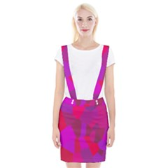 Voronoi Pink Purple Suspender Skirt