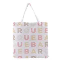 Alphabeth Rainbow Color Grocery Tote Bag