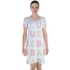 Alphabeth Rainbow Color Short Sleeve Nightdress
