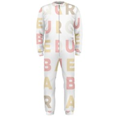 Alphabeth Rainbow Color OnePiece Jumpsuit (Men)