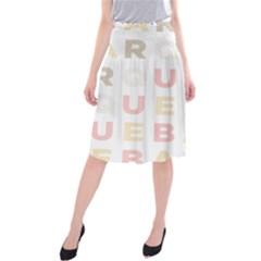 Alphabeth Rainbow Color Midi Beach Skirt