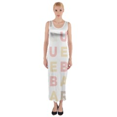 Alphabeth Rainbow Color Fitted Maxi Dress