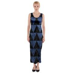 TRI2 BK-MRBL BL-STONE Fitted Maxi Dress