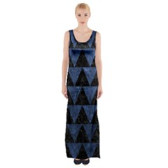 TRI2 BK-MRBL BL-STONE Maxi Thigh Split Dress