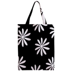 Black White Giant Flower Floral Classic Tote Bag