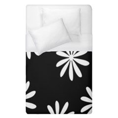 Black White Giant Flower Floral Duvet Cover (single Size)