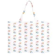 Baby Pacifier Pink Blue Brown Kids Large Tote Bag