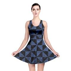 TRI1 BK-MRBL BL-STONE Reversible Skater Dress