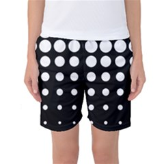 Circle Masks White Black Women s Basketball Shorts