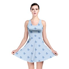 Blue Butterfly Line Animals Fly Reversible Skater Dress