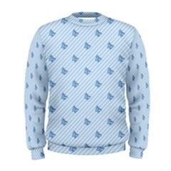Blue Butterfly Line Animals Fly Men s Sweatshirt
