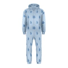 Blue Butterfly Line Animals Fly Hooded Jumpsuit (Kids)
