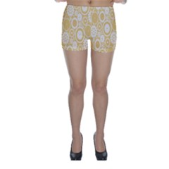 Wheels Star Gold Circle Yellow Skinny Shorts