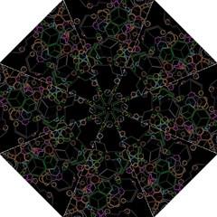 Boxs Black Background Pattern Folding Umbrellas