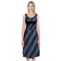 STR3 BK-MRBL BL-STONE Midi Sleeveless Dress