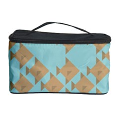 Fish Animals Brown Blue Line Sea Beach Cosmetic Storage Case