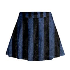 STR1 BK-MRBL BL-STONE Mini Flare Skirt