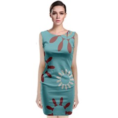 Fish Animals Star Brown Blue White Classic Sleeveless Midi Dress