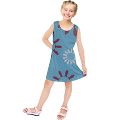 Fish Animals Star Brown Blue White Kids  Tunic Dress