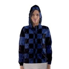 Square1 Black Marble & Blue Stone Hooded Wind Breaker (women)
