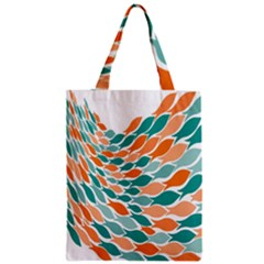 Fish Color Rainbow Orange Blue Animals Sea Beach Zipper Classic Tote Bag