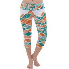 Fish Color Rainbow Orange Blue Animals Sea Beach Capri Yoga Leggings