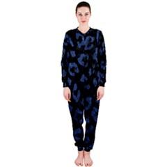 Skin5 Black Marble & Blue Stone (r) Onepiece Jumpsuit (ladies)