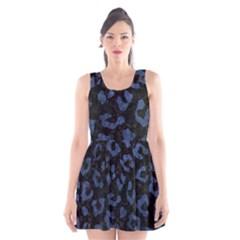 SKN5 BK-MRBL BL-STONE (R) Scoop Neck Skater Dress