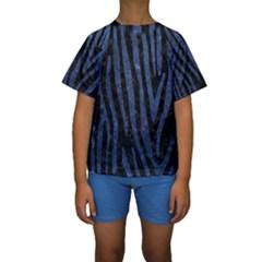 SKN4 BK-MRBL BL-STONE (R) Kids  Short Sleeve Swimwear