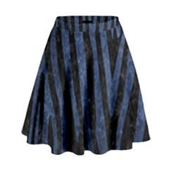 SKN4 BK-MRBL BL-STONE (R) High Waist Skirt