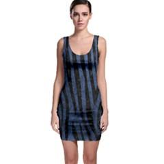SKN4 BK-MRBL BL-STONE Sleeveless Bodycon Dress